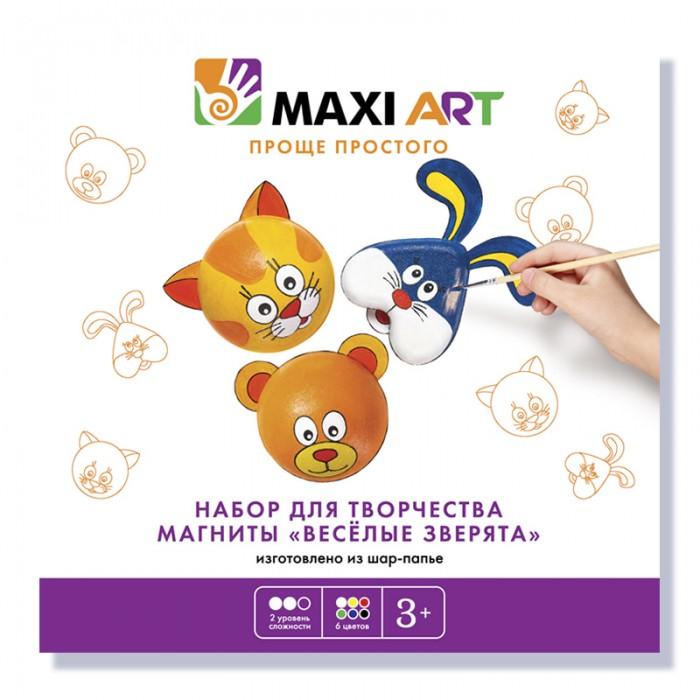 Maxi Art Набор для творчества Магниты Веселые зверята