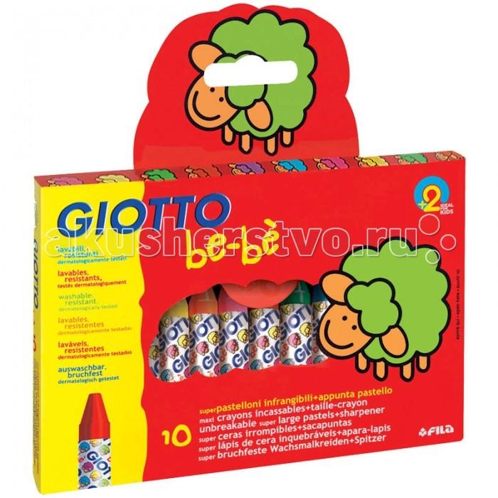 Giotto BeBe Мелки восковые 10 цветов