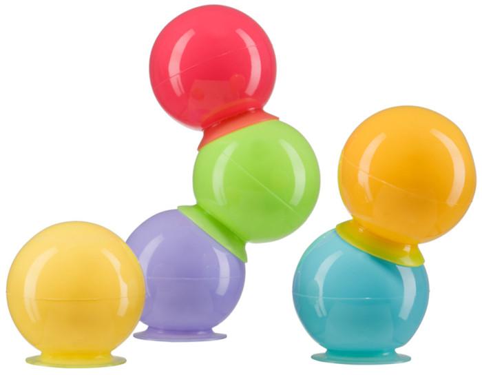 Happy Baby Набор ПВХ-игрушек для ванной IQ-BubblesНабор ПВХ-игрушек для ванной IQ-BubblesНабор ПВХ-игрушек для ванной IQ-Bubbles  Набор игрушек для купания IQ-Bubbles превратит купание вашего ребенка в веселую игру. Игрушки изготовлены из безопасных материалов и подходят для детей с рождения. Разноцветные пузыри в виде шариков на присосках  не только превратят процесс купания в удовольствие, но и помогут в развитие творческих и интеллектуальных способностей.   С помощью присосок малыш может крепить яркие шарики к гладким поверхностям ванной комнаты или соединять между собой в разных вариациях! Игрушки стимулируют развитие у ребенка координации движений, мелкой моторики и зрительной координации.  Материал: поливинилхлорид  Уход: Вымыть перед первым использованием. Рекомендуется мыть водой с мылом, и тщательно ополаскивать. Так же можно чистить влажной салфеткой. Не используйте для очистки едкие моющие средства, ребенок может проглотить их остатки.  Сушите при комнатной температуре.  Внимание: &#61656; Использовать для игры на мелководье и под наблюдением взрослых! &#61656; Не оставляйте своего ребенка без присмотра в воде!<br>