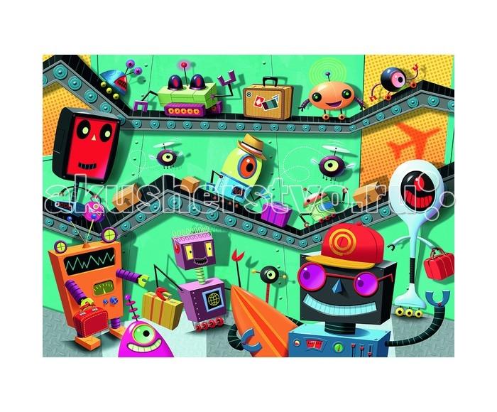 Ravensburger Пазл Роботы XXL 100 элементовПазл Роботы XXL 100 элементовRavensburger Пазл Роботы XXL 100 элементов 10686  Роботы от компании Ravensburger - это необычный пазл, на котором изображен конвейер с веселыми роботами, каждый из которых улыбается или смеется. Собирая пазл, ребенок станет более сконцентрированным и усидчивым, что обязательно поможет ему в дальнейшем обучении и развитии. Готовая картинка может стать отличным украшением интерьера для детской комнаты.  Размер собранного пазла: 49 x 36 см.<br>