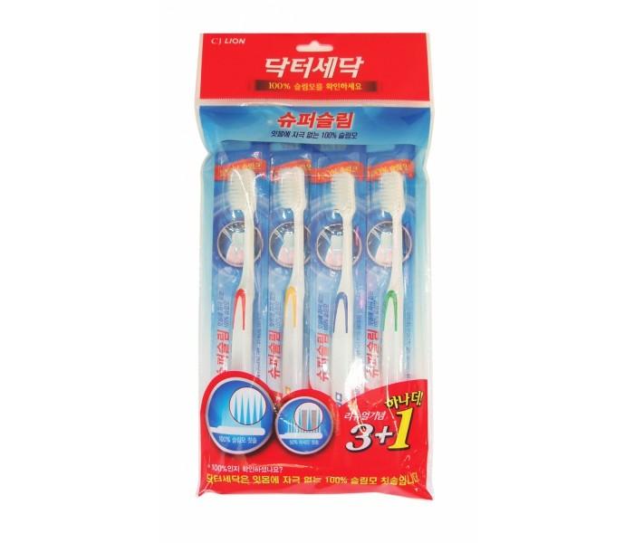 CJ Lion Зубная щетка для слабых десен Dr. Sedoc Super Slim 3+1