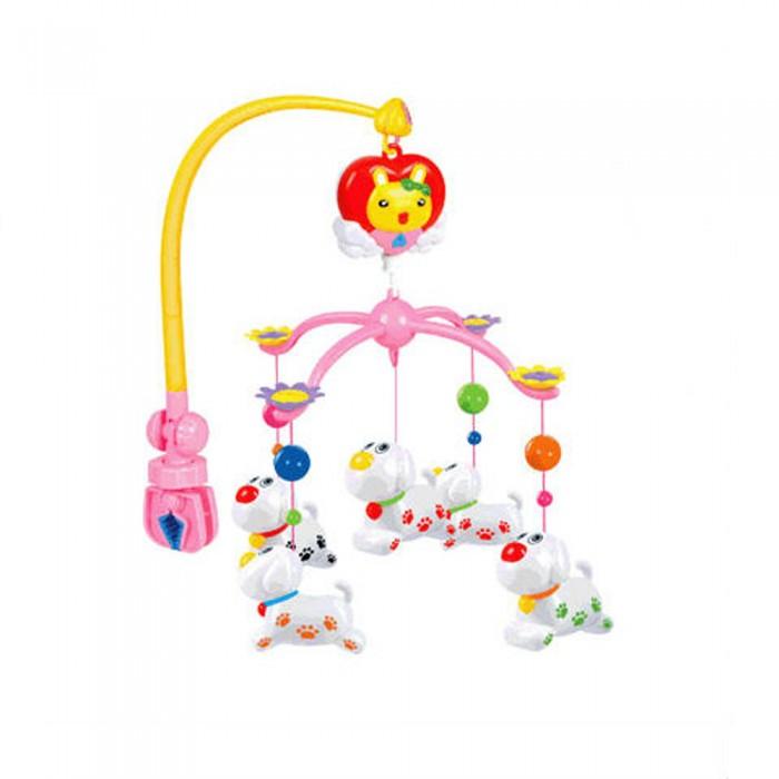 Мобиль Henglei  Дружок музыкальныйДружок музыкальныйМузыкальный мобиль Дружок с заводным механизмом обязательно понравится детишкам.  Помогает им в развитии фиксирования зрения на движущихся предметах, улучшает засыпание. Цветные игрушки привлекут его внимание, а звук мелодии позволит ребёнку успокоиться.   Характеристики: пластиковые игрушки - дельфины-погремушки музыкальный блок без регулировки звука, одна мелодия с заводным механизмом выполнены из безопасных материалов высокого качества<br>