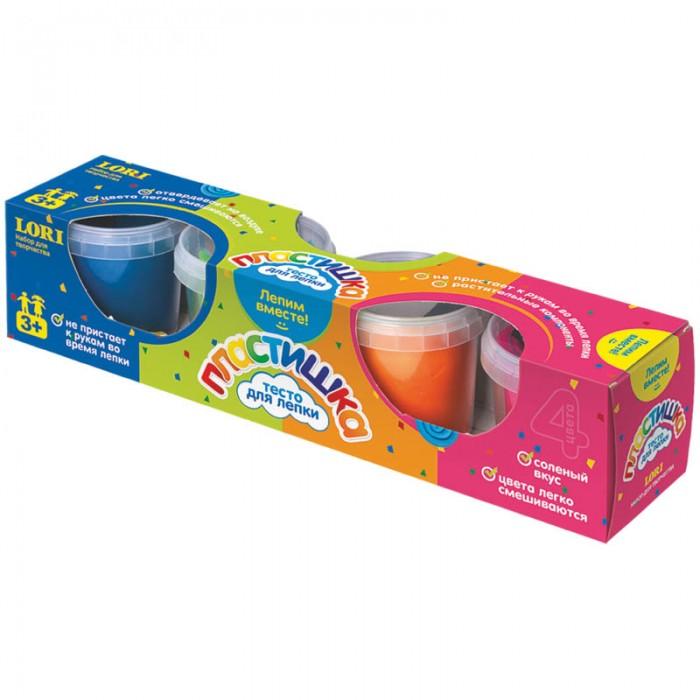 Lori Тесто для лепки Пластишка - 4 цвета по 100 г