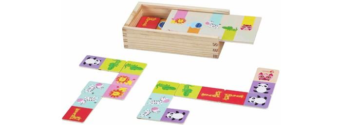 Деревянная игрушка Classic World Развивающее домино В мире животных
