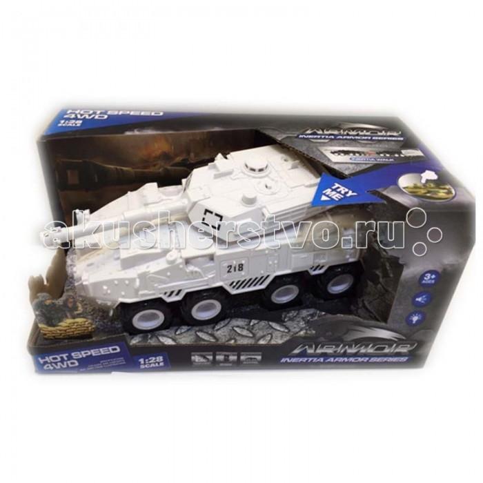 Yako Танк инерционный 4WD 1:28 Y12318513Танк инерционный 4WD 1:28 Y12318513Инерционный танк Hot Speed представлен популярным производителем детских игрушек Yako Toys.   Танк является моделью настоящей военной техники БТР 4WD, выполненной в масштабе 1:28. Танк оснащен звуковыми и световыми эффектами, имитирующими работу настоящего танка. Танк изготовлен из пластмассы и окрашен в военном стиле с максимальной прорисовкой деталей.   Игрушка имеет встроенный инерционный механизм, позволяющий танку двигаться самостоятельно по ровной поверхности. Для того чтобы завести двигатель машины, следует совершить несколько поступательных движений, проводя колесами по поверхности, а затем отпустить игрушку.<br>