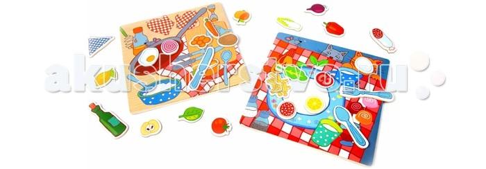 Деревянная игрушка Classic World Развивающая магнитная игра Котик и бутербродик