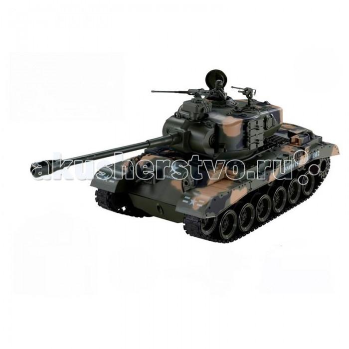 Yako Радиоуправляемый танк Т90 1:18Радиоуправляемый танк Т90 1:18Радиоуправляемый танк YAKO Т90 может не просто перемещаться в пространстве, он и стрелять из автоматической пневматической пушки. Дальность выстрела составляет до 20 метров! Для снарядов используются небольшие пластиковые шарики.     Особенности:  Масштаб 1:18.   Частота 27 МГц.   Радиус приёма сигнала: 20-25 м.  Три скорости при движении вперёд: 8, 10 и 12 км/ч. Одна - при движении назад.   Радиус обстрела - 12 м.   Сила выстрела 0.02 Дж.   Время работы от аккумулятора: 20-25 минут.   Время зарядки: 4 часа.   Стреляет пульками типа ВВ (6 мм).   Имеет выключатель для отключения функции стрельбы пульками. Выключатель спрятан под крышкой люка.   Выстрел при отключении производится, но работают только световые и звуковые эффекты.   Звук: работающий двигатель и звуки выстрелов.   Движение во все стороны.   Поворот башни на 350 градусов.   Имитирует откат во время выстрела из пушки.   Угол наклона пушки регулируется с пульта управления.   Преодолевает подъём под уклоном 45 градусов.   Ёмкость для пулек вмещает 20 штук.   Питание: аккумулятор (в комплекте): Ni Cd 700 mAh 9.6V.  Питание пульта: 3 батарейки типа АА (нет в комплекте).<br>