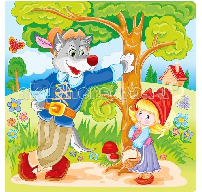 Astrel Пазл Красная шапочка 25 эллементовПазл Красная шапочка 25 эллементовПазл 6316 Красная шапочка - это замечательная мозаика, которая понравится любому ребенку. На готовой картинке можно увидеть героев из детского мультика, что еще сильнее обрадует малыша.   Собирая мозаику, ребенок становится более внимательным и усидчивым, кроме того, развивается его логика, тренирует пространственное мышление и моторику рук.<br>