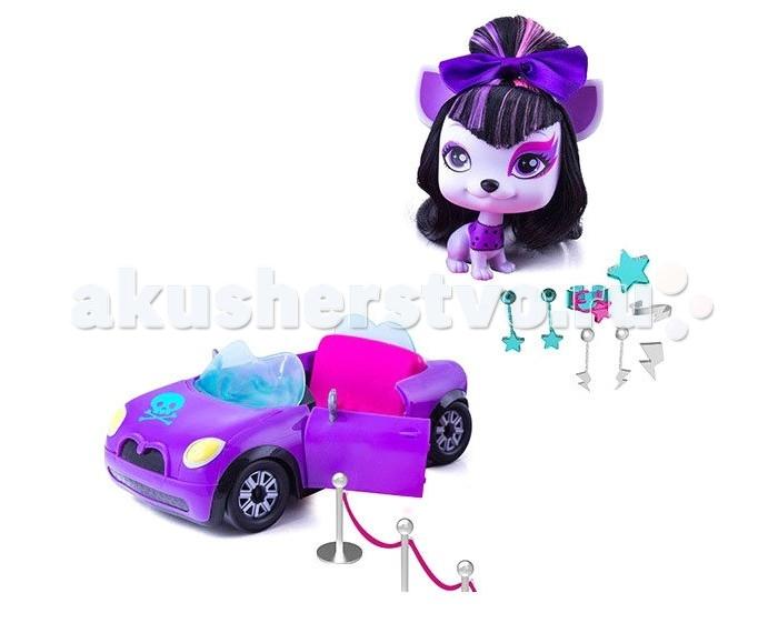 IMC toys Vip Машина с собакой ЛилитVip Машина с собакой ЛилитИгровой набор IMC toys Vip Машина с собакой Лилит - это симпатичная собачка со своим уникальным стилем и характером, которые выражаются через ее прически и внешний вид.   Лилит никуда не отправляется без своего фантастического кабриолета, который был разработан специально для нее, как и положено знаменитой рок-звезде. В машине есть все необходимое, чтобы создать сногсшибательный образ. Капот имеет отсек, в котором хранятся серьги, ожерелья, драгоценные камни и другие украшения. Так же имеется розовый ковер и бархатные бортики, которые обеспечат безопрасный и триумфальный выход зведе на любой гала-концерт!  Высота собачки: 10 см<br>