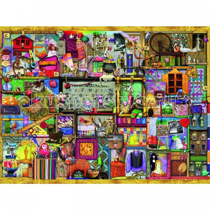 Ravensburger Пазл Искусство и хобби 1500 элементовПазл Искусство и хобби 1500 элементовRavensburger Пазл Искусство и хобби 1500 элементов 16312  Пазл Искусство и хобби К. Томпсон представляет собой комплект для сборки красочного изображения со всевозможными интересными предметами. Пазл состоит из 1500 элементов. У каждого человека есть свои интересы и различные увлечения. Кто-то увлекается шитьем, а кто-то рисованием, один вяжет, а другой мастерит игрушки - все это и есть хобби, которое практически всегда связано с искусством.  Элементы пазла выполнены из качественного картона, каждая деталь обладает своей определенной формой и подходит только на свое место. Такую картину будет интересно собирать, ведь все детали очень красочные, не однотонные. Сборка пазла способствует развитию координации движений, усидчивости, наблюдательности, образного мышления и цветового восприятия.   Готовое изображение можно повесить на стену и украсить интерьер любой комнаты.  Размер собранного поля: 80 х 60 см.<br>
