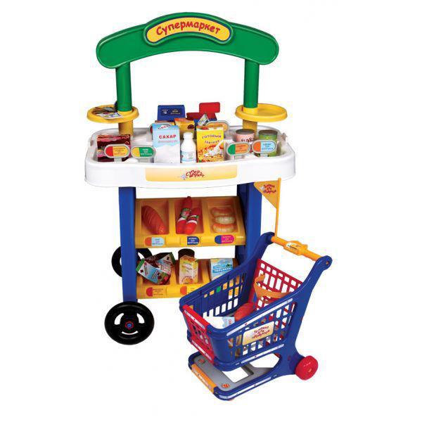 Ролевые игры Winner Супермаркет с витриной, тележкой и аксессуарами 5289