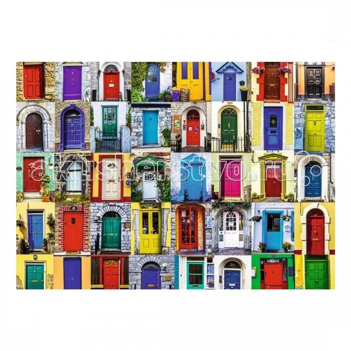 Ravensburger Пазл Двери всего мира 1000 элементовПазл Двери всего мира 1000 элементовRavensburger Пазл Двери всего мира 1000 элементов 19524  Пазл Двери всего мира представляет собой набор для сборки красочной картины, состоящей из 1000 элементов. На картине изображено множество дверей разных расцветок и дизайна. У каждого человека есть свой вкус, и основываясь на этом, он украшает свой домашний очаг. Дверь является визитной карточкой каждого дома, глядя на нее можно судить о хозяине.  Детали пазла изготовлены из качественного картона, каждый элемент обладает своей определенной формой и подходит только на свое место. Такую картину будет интересно собирать, ведь все элементы очень красочные. Сборка пазла способствует развитию координации движений, усидчивости, терпения, наблюдательности, образного мышления и цветового восприятия.   Готовую картину можно повесить на стену и украсить интерьер комнаты.  Размер собранного пазла: 70 х 50 см.<br>