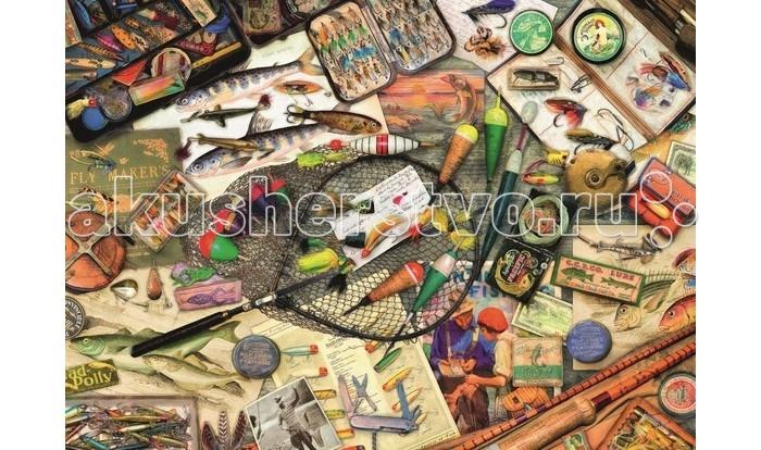 Ravensburger Пазл Коллекция рыбака 1000 элементовПазл Коллекция рыбака 1000 элементовRavensburger Пазл Коллекция рыбака 1000 элементов 19600  Замечательный пазл Коллекция рыбака от производителя Ravensburger, состоящий из 1000 элементов представляет собой картинку с изображениями различных рыбацких принадлежностей, которую нужно собрать воедино. Пазл обязательно понравится тем, кто любит и увлекается рыбалкой. Собранную картинку можно будет повесить в качестве интерьера.  Размер собранного пазла: 70 х 50 см.<br>