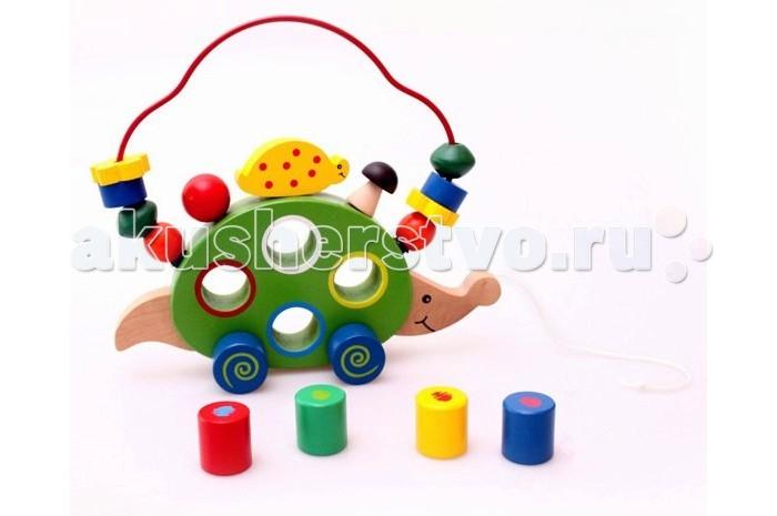 Деревянная игрушка Фабрика фантазий лабиринт-каталка Ёжик 47475