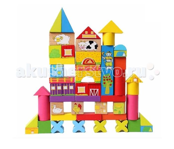 Деревянная игрушка Фабрика фантазий Конструктор Ферма 52 детали 42284