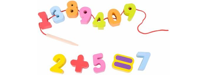 Деревянная игрушка Classic World Развивающая игра-шнуровка Весёлая математика