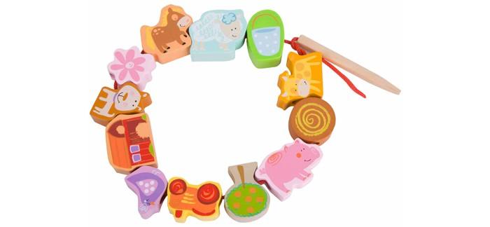 Деревянная игрушка Classic World Развивающая игра-шнуровка Любимая ферма