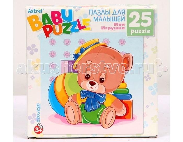 Astrel Пазл Медведь 25 эллементовПазл Медведь 25 эллементовПазл 6253 Медведь - это замечательная мозаика, которая понравится любому ребенку.  Собирая мозаику, ребенок становится более внимательным и усидчивым, кроме того, развивается его логика, тренирует пространственное мышление и моторику рук.<br>