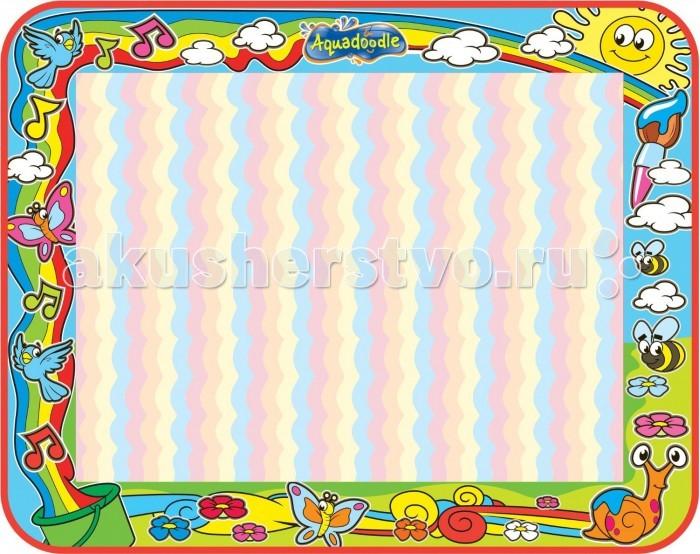 Tomy Aquadoodle Цветная радугаAquadoodle Цветная радугаTomy Aquadoodle Цветная радуга T72373  На коврике для рисования Цветная радуга из серии Aquadoodle можно изобразить все, что захочется. Для этого вам понадобится только вода. Создаются рисунки при помощи специального водяного маркера. Мокрые ручки и ножки также прекрасно послужат вместо кисточек и карандашей. После того, как пройдет несколько минут, рисунки пропадают без следа. Тогда можно снова продолжать творческую деятельность, не боясь что-нибудь испачкать красками.  Размер коврика: 75 x 95 x 0.3 см. Игровая поверхность: 75 x 75 см.<br>