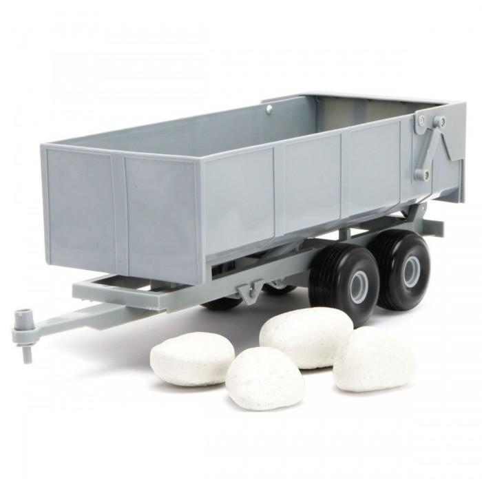Tomy Прицеп-самосвал + камниПрицеп-самосвал + камниTomy Прицеп-самосвал + камни 43079  Игровой набор Прицеп для самосвала с камнями предназначен для мальчиков, которые любят играть с машинками. Игрушка создана в качестве уменьшенной копии настоящего прицепа. Прицеп может быть присоединен к грузовику со специальным отверстием для крепления. Задний бортик открывается для того, чтобы было легче выгружать провозимые грузы. Имея многочисленные наборы с машинками и животными, ребенок сможет разнообразить игру, поместив их в прицеп.<br>