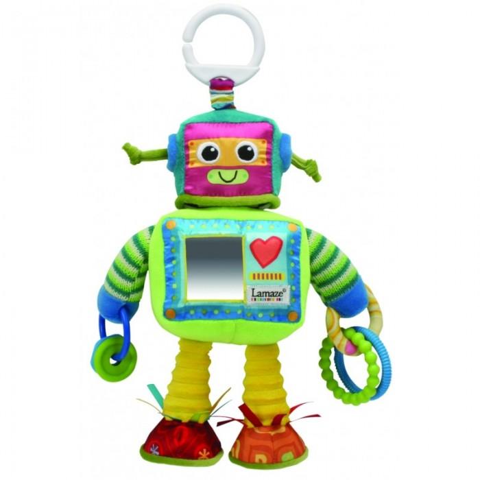 Подвесная игрушка Tomy Робот РастиРобот РастиTomy Робот Расти LC27089  Мягкая развивающая игрушка Lamaze представлена в виде робота, который можно прикрепить к кроватке малыша или использовать как подвеску. В руках у робота специальные кольца, которые можно использовать как прорезыватели для зубов.<br>
