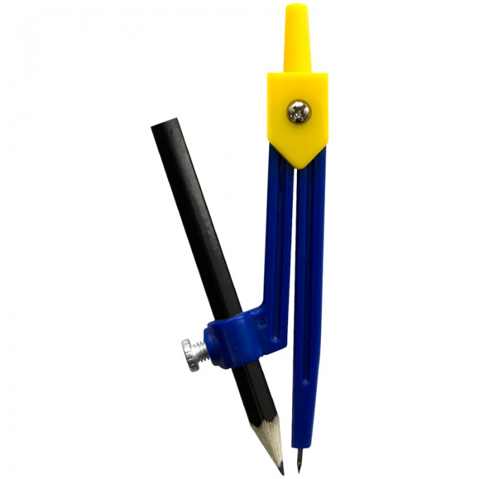 Спейс Циркуль пластиковый с карандашом ПВХ чехол