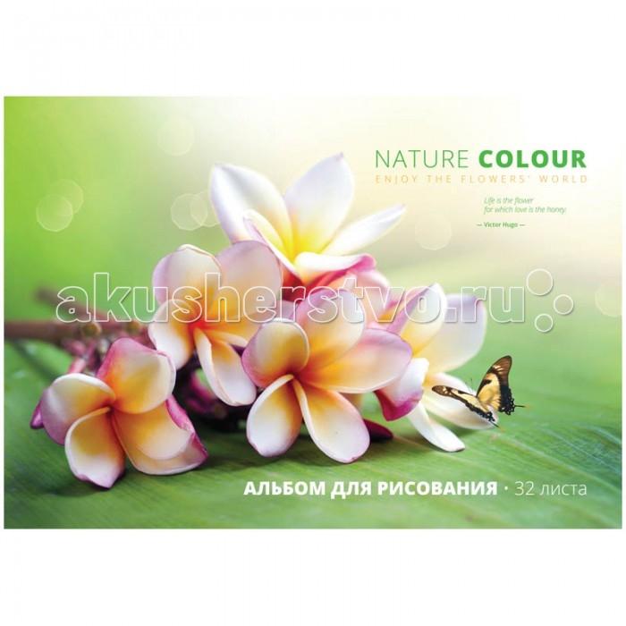 Спейс Альбом для рисования Цветы Beautiful floral 32 листа
