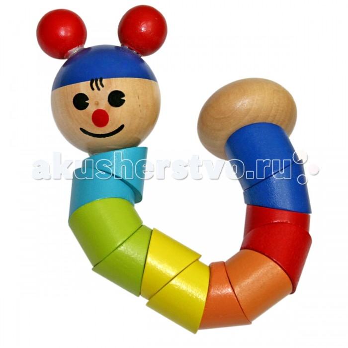Деревянная игрушка Фабрика фантазий Гусеница 47483Гусеница 47483Деревянная игрушка  Гусеница - забавная подвижная игрушка для детей. Ее приятно держать в руках, крутить в разные стороны. Подвижные сочленения позволяют играть с гусеницей, как с головоломкой-змейкой.  Игрушка выполнена из экологически чистого и долговечного материала дерева, не имеет острых углов, сколов и зазубрин.<br>