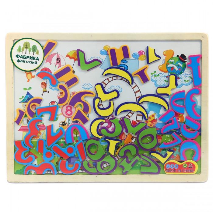 Деревянная игрушка Фабрика фантазий Доска магнитная с пазлами 41793