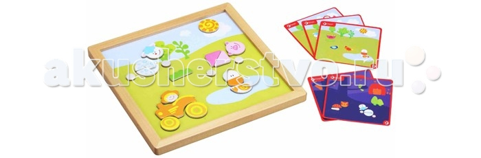 Деревянная игрушка Classic World Магнитная игра День и ночьМагнитная игра День и ночьДень и ночь это весёлая и увлекательная игра-головоломка со множеством удивительных персонажей и игровых элементов - животные, транспорт, деревья.  Магнитная игра познакомит ребёнка с окружающим миром и такими понятиями как разные части суток - например день и ночь.  В игре имеются разнообразные элементы-пазлы для создания животных, людей, деревьев. По желанию ребенок может менять игровое поле на день или ночь.   Игра изготовлена из экологически чистого дерева и окрашена безопасными для здоровья ребенка красками.<br>