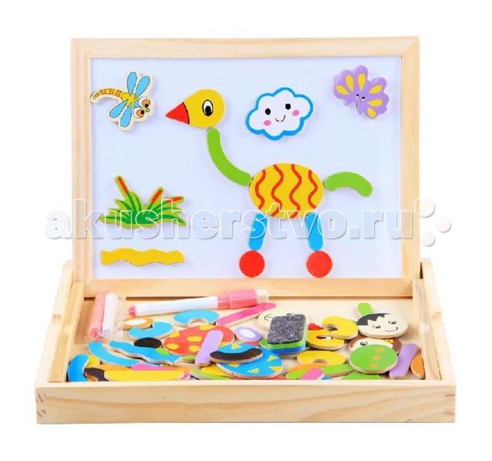 Деревянная игрушка Фабрика фантазий Магнитный конструктор 47490