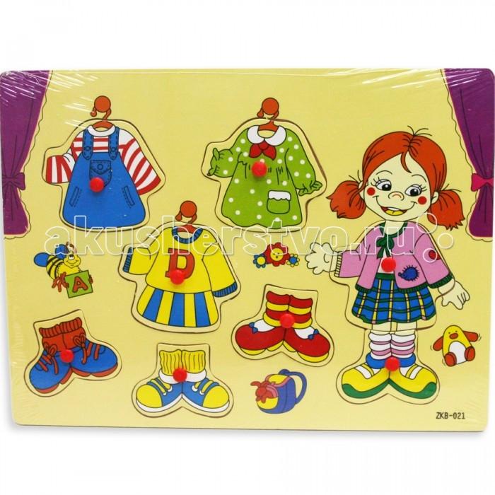 Деревянная игрушка Фабрика фантазий Рамка-вкладыш Модница 42274