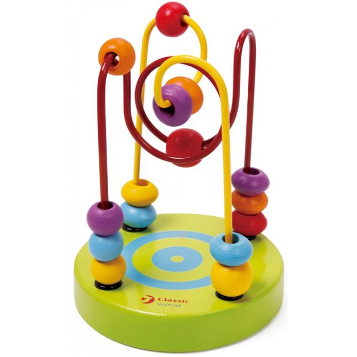 Деревянная игрушка Classic World Сортер-лабиринт Бусины и горки