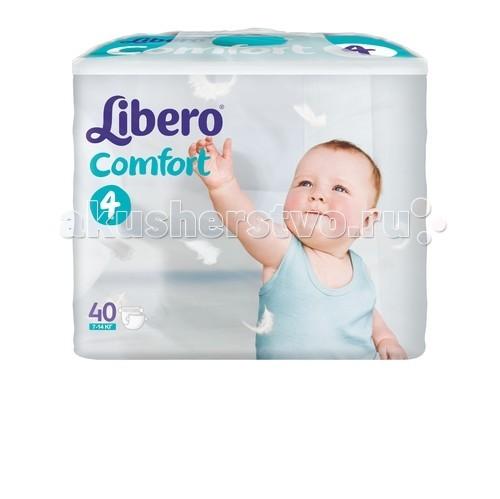 Libero Подгузники Comfort (7-14 кг) 40 шт.Подгузники Comfort (7-14 кг) 40 шт.Подгузники Либеро Комфорт Макси 7/14кг (40 штук)   Ваш малыш с каждым днем становится все более активным, начинает исследовать окружающий мир. Но иногда кроха не может радоваться открытиям из-за такой важной одежды,  как подгузник. Мягкие и ультратонкие Libero Comfort  хорошо впитывают и сидят на малыше, не стесняя его движений, дарят комфорт и радость.  • Мягкие и тонкие • Хорошо впитывают • Не содержат лосьонов • Тянущиеся боковинки и эластичный поясок для более комфортного прилегания • Мягкие резиночки анатомической формы вокруг ножек • Позволяют коже дышать В каждой упаковке Libero Comfort вы найдете 2 разных дизайна подгузников!                                                                                          Libero Comfort 4 (Макси) созданы для малышей от 7-14 кг.   Упаковка: 40 штук. Страна производства: Россия<br>