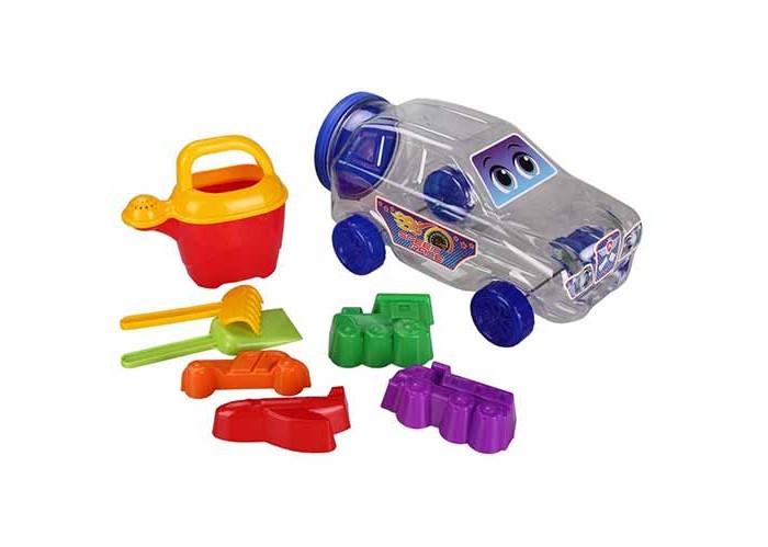 Альтернатива (Башпласт) Набор детский для игры с песком ДжипНабор детский для игры с песком ДжипНабор детский для игры с песком Джип  Набор состоит из машинки - контейнера с крышкой, в которой спрятаны лейка, 4 формочки для песка и лопатки. Игра с таким набором будет увлекательной.   С таким набором интересно играть не только в песочнице, но и помогать вам на даче. С помощью машинки можно перевозить землю, лопатками копать ямки, садить растения и поливать их из лейки.<br>