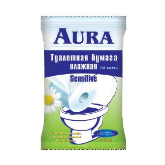 Aura Влажная туалетная бумага 20 шт.
