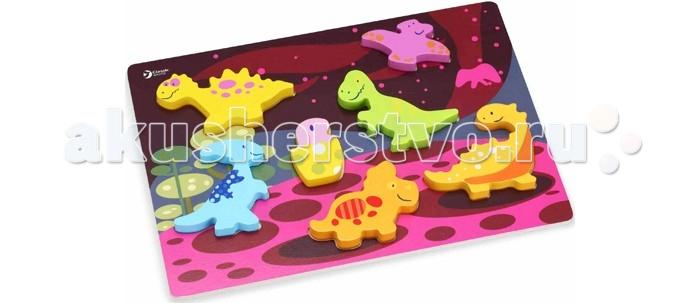Classic World Развивающий 3D пазл Мир динозавровРазвивающий 3D пазл Мир динозавровДжунгли это простой и понятный 3D пазл-сортер для самых маленьких и не только.  Пазл-сортер познакомит ребенка с загадочным и неповторимым миром таинственных динозавров.    Играя с этой игрой ребенку нужно будет расставить на игровом поле фигурки по силуэтам, одновременно в ненавязчивой игровой форме развивая логику, пространственное мышление и внимательность.   Игра изготовлена из экологически чистого дерева с использованием красок, безопасных для здоровья ребенка.<br>