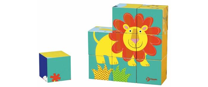 Деревянная игрушка Classic World Кубики-пазлы Приключения в джунглях