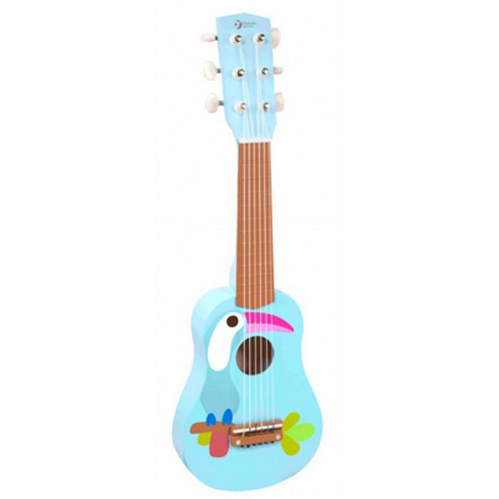 Музыкальная игрушка Classic World Деревянная гитара ТуканДеревянная гитара ТуканДеревянная гитара Тукан классический музыкальный инструмент с 6 нейлоновыми струнами.  Играя с этим музыкальным инструментом ребёнок сможет самостоятельно придумывать различные музыкальные композиции, что прекрасно способствует развитию творческого мышления, музыкального интеллекта, чувства ритма и такта.    Гитара изготовлена из экологически чистого дерева с использованием красок, безопасных для здоровья ребенка.<br>