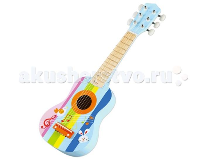 Музыкальная игрушка Classic World Деревянная гитара Радуга