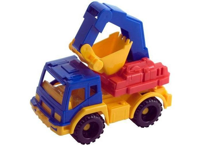 Нордпласт Экскаватор КамаЭкскаватор КамаНордпласт Экскаватор Кама выполненная в ярких цветах, обладает особой прочностью. У машины крутятся колеса, имеются подвижные элементы.  Особенности: Машинку удобно катать.  Играя с машинкой, малыш развивает координацию движений и моторику рук. Малышу будет доволен новой прочной машиной, которая прослужит очень долго. Изготовлено из высококачественной пластмассы.  Размер машинок в среднем составляет около 20 см<br>