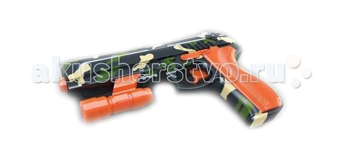 Yako Игрушечный пистолет с мягкими пульками Y4416879Игрушечный пистолет с мягкими пульками Y4416879Игрушечный пистолет от компании Yako Toys прекрасно подойдет юному джентельмену, желающему навести порядок на улицах родного городка. Этот пистолет оснащен подствольным световым целеуказателем, помогающим стрелять точнее.   Для оттачивания навыков стрельбы можно использовать прилагаемые кегли. Пульки для этой модели - мягкие, и поэтому не причиняют вреда.  Взвод механизма - отведением назад планки сверху.  Стреляет дротиками Nerf - примерно на 8-9 метров.  Дальность стрельбы гелевыми шариками - примерно 10-12 метров.  В комплекте сухие шарики (для подготовки к стрельбе их нужно положить в воду), ёмкость для шариков, съёмный прицел с фонариком (свет синего цвета), мишени-кегли.<br>