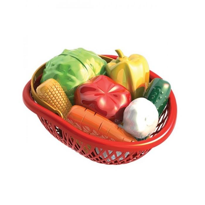 Нордпласт Набор Овощи в лукошке (10 предметов)Набор Овощи в лукошке (10 предметов)Нордпласт Набор Овощи в лукошке - прекрасное дополнение стола на детской кухне, также набор может быть украшением обычной кухни!  Особенности: Яркие «спелые» овощей выглядят очень реалистично, они помещаются в плетеное лукошко, которое красиво смотрится; также его можно использовать для хранения детских аксессуаров, домашних мелких принадлежностей, фурнитуры.  Все предметы изготовлены из высококачественной пластмассы безвредной для ребенка.    В комплекте: 10 фруктов, лукошко<br>