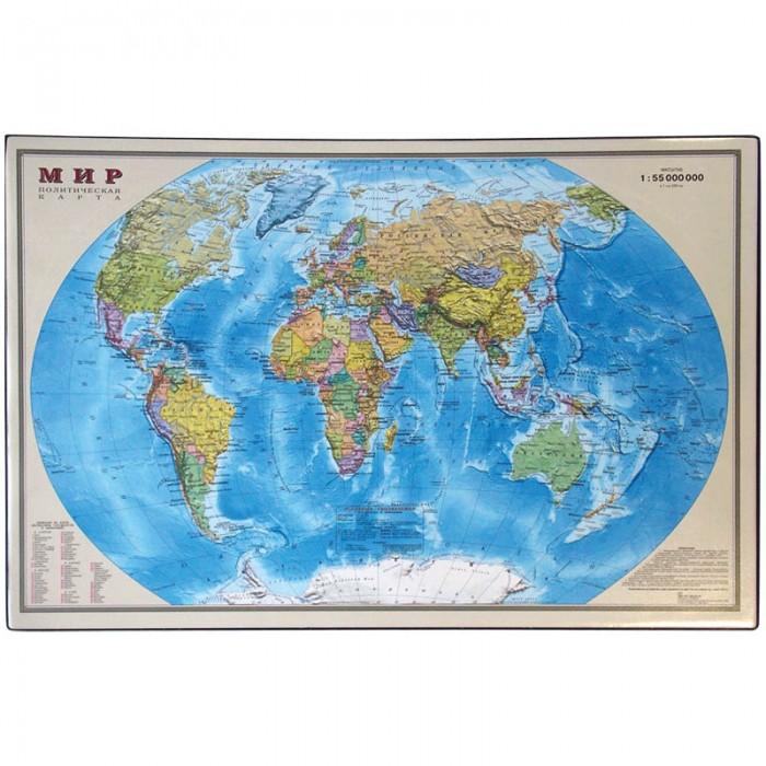 Спейс Настольное покрытие Карта мира 38х59 смНастольное покрытие Карта мира 38х59 смСпейс Настольное покрытие Карта мира 38х59 см. Настольное покрытие из ПВХ с лицензионной картой мира.   Подложка на рабочий стол не только убережет его от загрязнений и царапин, но и будет радовать глаз своим необычным дизайном.   Модель изготовлена из плотного картона с защитным слоем из прозрачного ПВХ.<br>