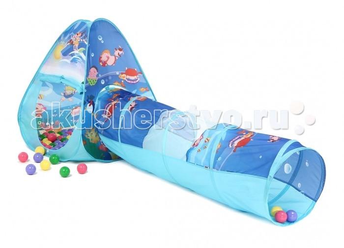 Bony Игровой домик с тоннелем с шариками Треугольник Океан