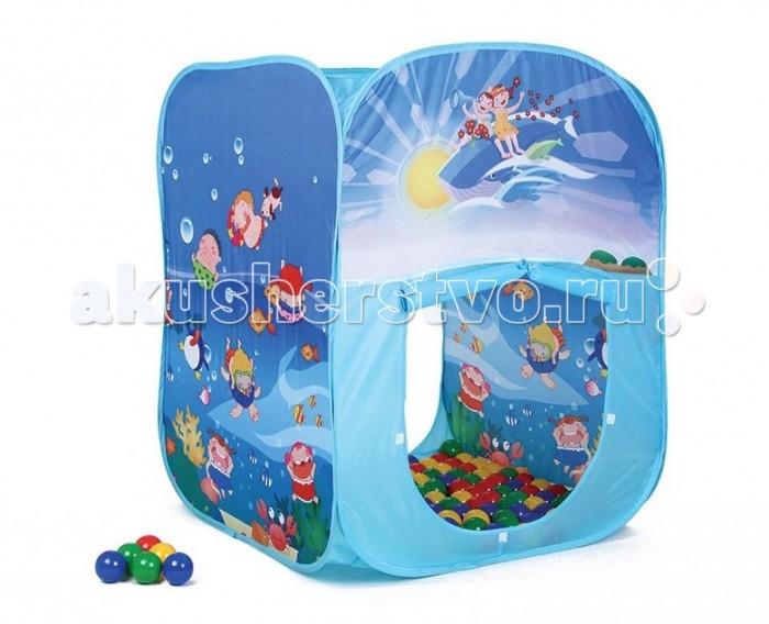 Bony Игровой домик с тоннелем с шариками Квадрат океан
