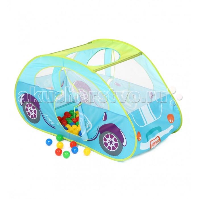 Bony Игровой домик с тоннелем с шариками Голубая машинкаИгровой домик с тоннелем с шариками Голубая машинкаКрасочные и интересные игровые домики для детей — это лучшее решение родителей, чтобы ребенок мог активно играть с пользой для здоровья!  Домики очень компактные, легкие и их легко брать с собой, например, на дачу или на природу.  В комплекте 100 разноцветных шариков, играя которыми, малыши развивают ловкость и моторику рук.   Палатка имеет окошки из сетки. Специальная дверка закрепляется на липучках. Достаточно высокий порог не позволит выкатываться шарикам.  Размеры: домик - 130&#215;70&#215;80 см<br>