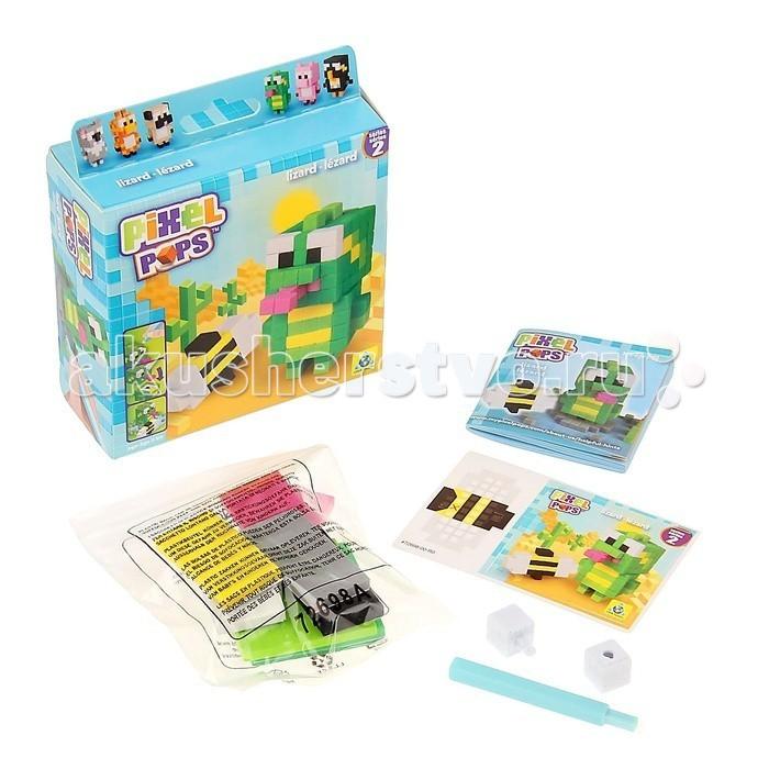 Конструктор ORB Factory Игрушка Ящерица 01962Игрушка Ящерица 01962Игрушка Ящерица - необычный набор для детского творчества от компании Orb Factory поможет вам создать необычную игрушку в виде маленького жирафика, который очень любит гулять по зеленой травке и любоваться парящими бабочками.  А необычность композиции заключается в том, что весь комплект очень похож на пиксельный. Все необходимые элементы для данного набора уже есть в комплекте: основа, клеящиеся элементы - пиксели, стилус.<br>