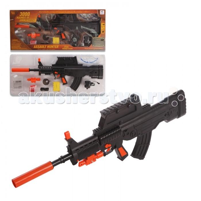 Yako Игрушечная Штурмовая винтовка с мягкими пульками Y4416862Игрушечная Штурмовая винтовка с мягкими пульками Y4416862Игрушка Штурмовая винтовка от компании Yako Toys представляет собой очень реалистичную версия настоящего оружия, предназначенную для занимательных игр на воздухе.   Винтовка изготовлена из пластмассы и дополнена прицелом с инфракрасным наведением, благодаря которому выследить мишень можно практически бесследно. Оружие стреляет при помощи гелевых шариков в автоматическом режиме.  Стреляет гелевыми шариками в автоматическом режиме (очередями).  В комплекте сухие шарики. Для подготовки к стрельбе, необходимо их положить  в воду.  Питание: аккумулятор (входит в комплект).  Съёмные: дуло, прицел (с ИК наведением), подножка.  Поднимаются прицельные планки.  В комплект включены защитные очки, воронка для шариков, мишень.  Дальность стрельбы - 20-25 метров.<br>