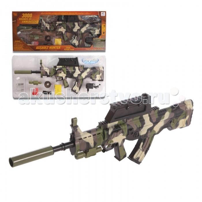Yako Игрушечная Штурмовая винтовка с мягкими пульками Y4416863Игрушечная Штурмовая винтовка с мягкими пульками Y4416863Игрушка Штурмовая винтовка от компании Yako Toys представляет собой очень реалистичную версия настоящего оружия, предназначенную для занимательных игр на воздухе.   Винтовка изготовлена из пластмассы и дополнена прицелом с инфракрасным наведением, благодаря которому выследить мишень можно практически бесследно. Оружие стреляет при помощи гелевых шариков в автоматическом режиме.  Стреляет гелевыми шариками в автоматическом режиме (очередями).  В комплекте сухие шарики. Для подготовки к стрельбе, необходимо их положить  в воду.  Питание: аккумулятор (входит в комплект).  Съёмные: дуло, прицел (с ИК наведением), подножка.  Поднимаются прицельные планки.  В комплект включены защитные очки, воронка для шариков, мишень.  Дальность стрельбы - 20-25 метров.<br>